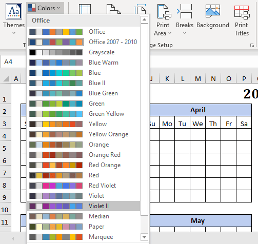 2019 calendars from excel microsoft excel 25223 - 2019 Calendars from Excel