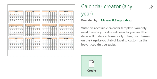 2019 calendars from excel microsoft excel 25226 - 2019 Calendars from Excel
