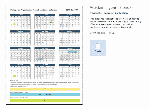 2020 academic calendar in microsoft word microsoft office 33627 - 2020 Academic calendar in Microsoft Word