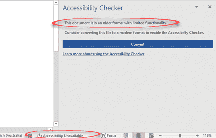 accessibility checker and document conversion in office 365 microsoft office 31701 - Accessibility Checker and document conversion in Office 365