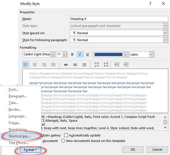 add a fast keyboard shortcut for any word style microsoft word 22990 - Add a fast keyboard shortcut for any Word style