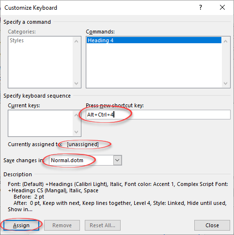add a fast keyboard shortcut for any word style microsoft word 22991 - Add a fast keyboard shortcut for any Word style