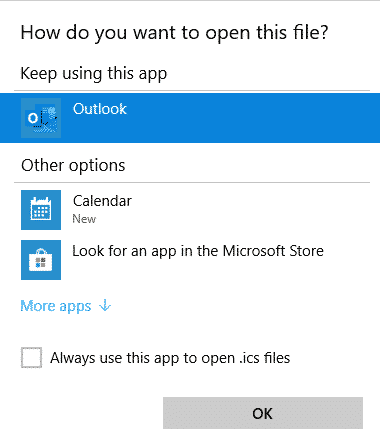 add an icalendar ics to an outlook calendar but be careful microsoft office 30214 - Add an iCalendar .ics to an Outlook calendar but be careful