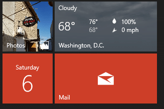 Add Outlook to Windows Live Tiles
