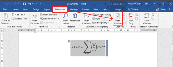 adding captions in word microsoft word 27446 - Adding Captions in Word