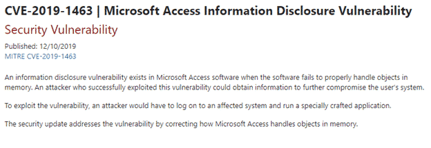 another access memory leak finally patched microsoft office 33866 - Another Access memory leak finally patched