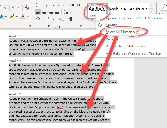another way to replace one word style with another microsoft word 25354 - Another way to replace one Word style with another