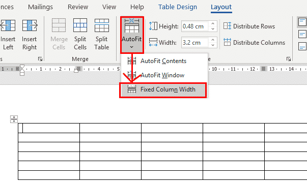 autofit table columns in word 37175 - AutoFit Table Columns in Word