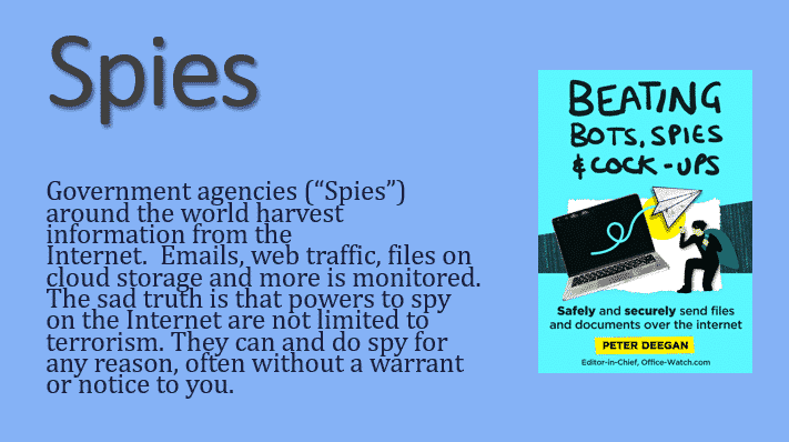 beating bots spies cock ups safely securely send files and documents 35296 - Beating Bots, Spies & Cock-ups - Safely & securely send files and documents