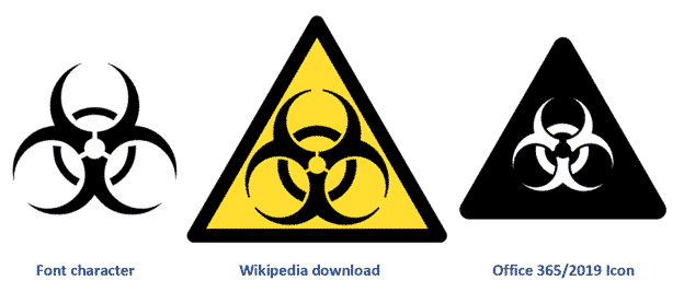 biohazard symbol for word powerpoint and more microsoft office 35763 - 2020 - Year of the Icon?