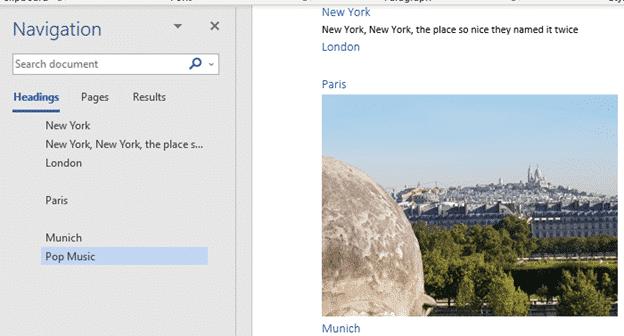 blank spaces in word navigation pane microsoft word 23966 - Blank spaces in Word navigation pane