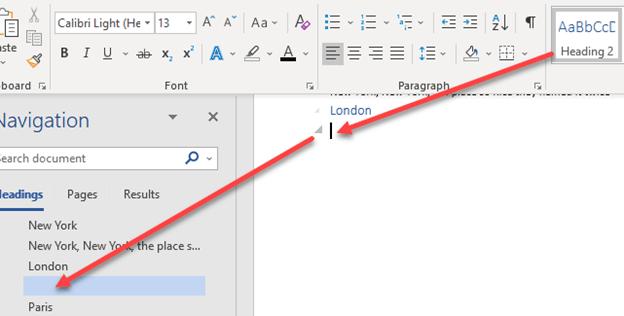 blank spaces in word navigation pane microsoft word 23967 - Blank spaces in Word navigation pane