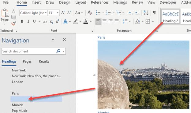 blank spaces in word navigation pane microsoft word 23968 - Blank spaces in Word navigation pane