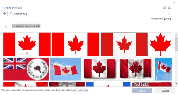 canadian flag into word excel or powerpoint microsoft office 34475 - Canadian Flag into Word, Excel or PowerPoint