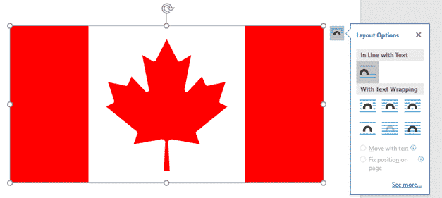 canadian flag into word excel or powerpoint microsoft office 34478 - Canadian Flag into Word, Excel or PowerPoint