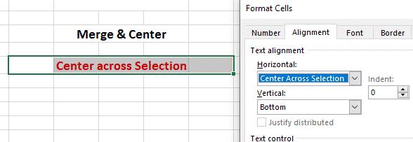 center across selection vs merge center in excel microsoft excel 30359 - Center Across Selection vs Merge & Center in Excel