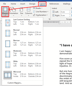 change margins in word microsoft word 33071 - Change Margins in Word