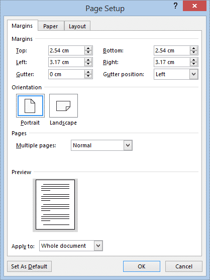 change margins in word microsoft word 33078 - Change Margins in Word