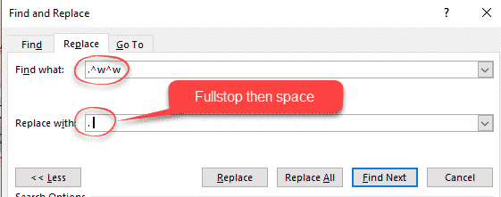change sentence space after fullstop period in word microsoft word 26835 - Change sentence space after fullstop/period in Word