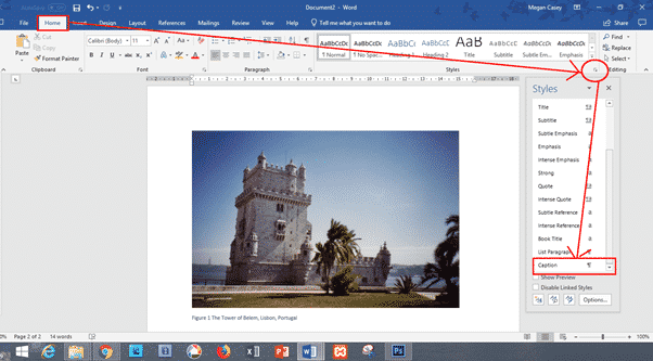 changing caption appearance in word or hiding captions completely microsoft word 27469 - Changing Caption appearance in Word or hiding captions completely