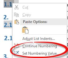 changing word numbering 8047 - Changing Word numbering