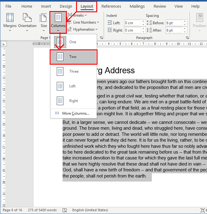 column breaks in word 37677 - Column Breaks in Word