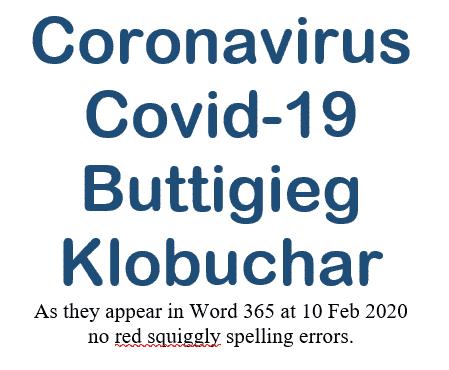 coronavirus buttigieg and other topical words in word office microsoft office 34781 - Coronavirus, Buttigieg and other topical words in Word & Office