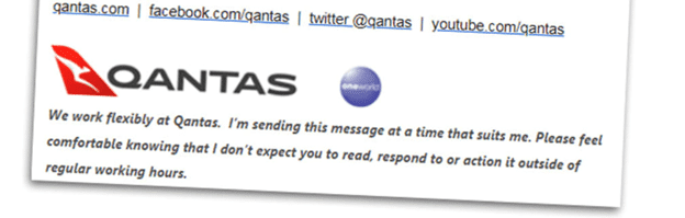 dont panic signature to emails from the aussie airline 19174 - 'Don't Panic' signature to emails from the Aussie airline