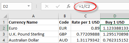 excel easily get the latest currency exchange rates 10692 - Excel: easily get the latest currency exchange rates