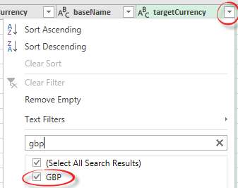 excel getting a single value from a large data feed 10916 - Excel; getting a single value from a large data feed