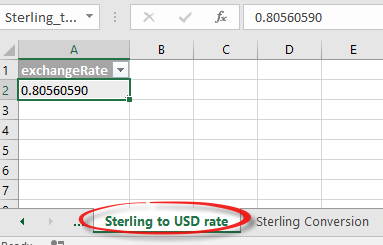 excel getting a single value from a large data feed 10920 - Excel; getting a single value from a large data feed