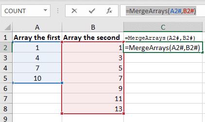excel merge arrays into a single array with vba microsoft office 35005 - Excel merge arrays into a single array with VBA