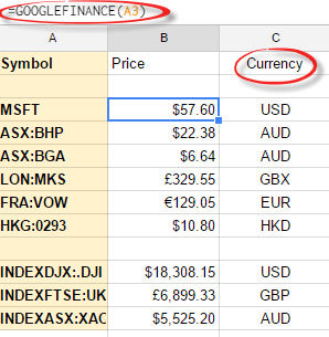 excel stock prices from google finance 10799 - Excel: stock prices from Google Finance