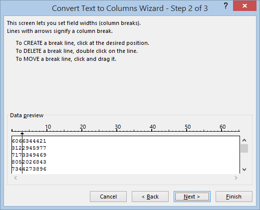 excel text to columns microsoft office 31412 - Excel Text to Columns
