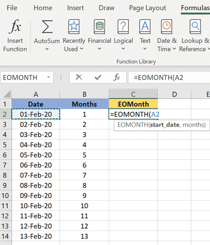 excels eomonth to find the last day of the month microsoft excel 36009 - Excel's EOMONTH() to find the last day of the month