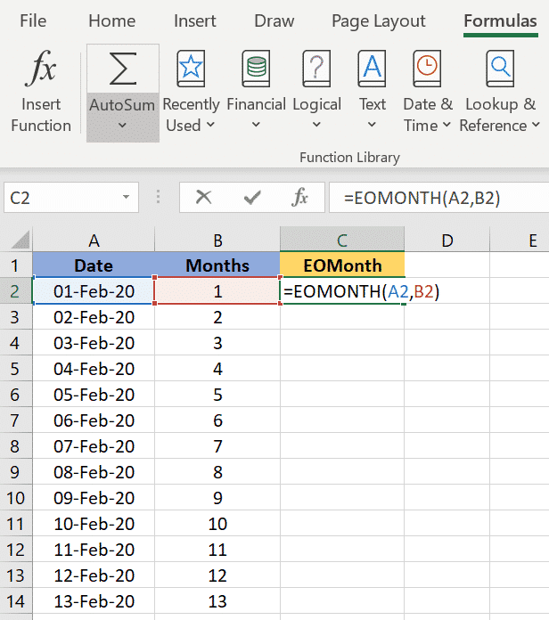 excels eomonth to find the last day of the month microsoft excel 36010 - Excel's EOMONTH() to find the last day of the month