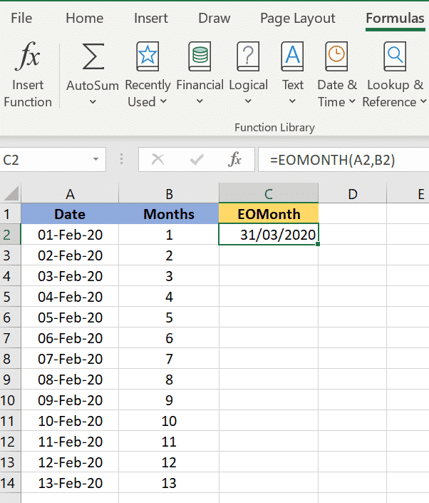 excels eomonth to find the last day of the month microsoft excel 36013 - Excel's EOMONTH() to find the last day of the month