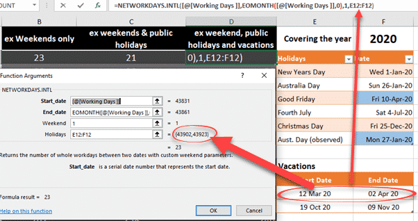 excels networkdays and holidays in the real world microsoft office 35042 - Excel's NetworkDays() and Holidays in the real world
