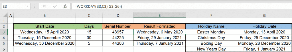 excels workday counts by working days microsoft excel 36392 - Excel's WORKDAY() counts by working days