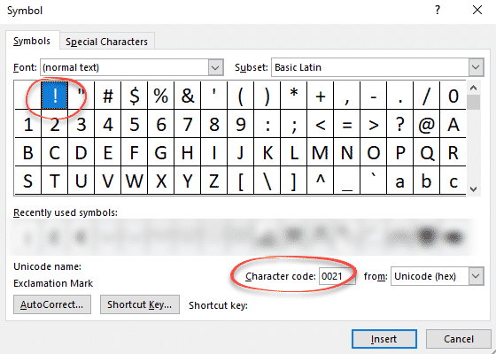 explore five yes five different exclamation mark in word microsoft office 28467 - Explore five (yes FIVE) different Exclamation Mark ! in Word