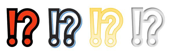 Exclamation Question Mark Emoji in Microsoft Word