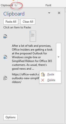 exploring the office clipboard microsoft office 23583 - Exploring the Office clipboard