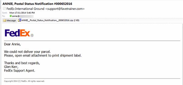 FedEx email that isn't