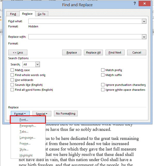 find and remove hidden text in word microsoft word 32228 - Find and Remove Hidden Text in Word