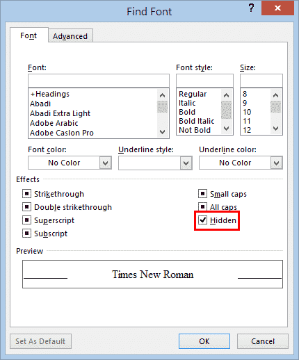 find and remove hidden text in word microsoft word 32229 - Find and Remove Hidden Text in Word