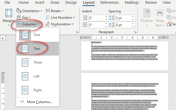 flowing column text in word with break out or sidebar microsoft word 27780 - Flowing column text in Word with break-out or sidebar