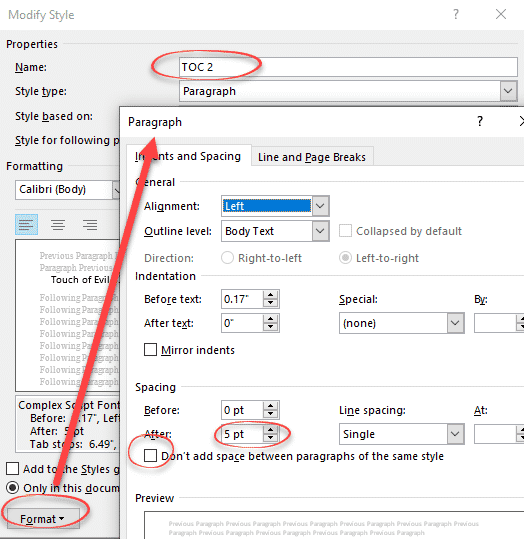 four tricks to shrink a table of contents in word microsoft office 27722 - Four tricks to shrink a Table of Contents in Word