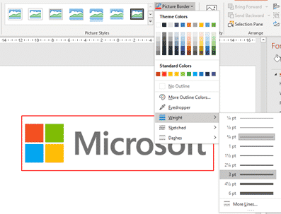 framing pictures graphics logos in word and powerpoint microsoft office 34132 - Framing pictures, graphics, logos in Word and PowerPoint