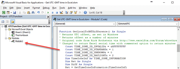 get local time zone offset in excel microsoft excel 23569 - Get local time zone offset in Excel