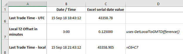 get local time zone offset in excel microsoft excel 23572 - Get local time zone offset in Excel